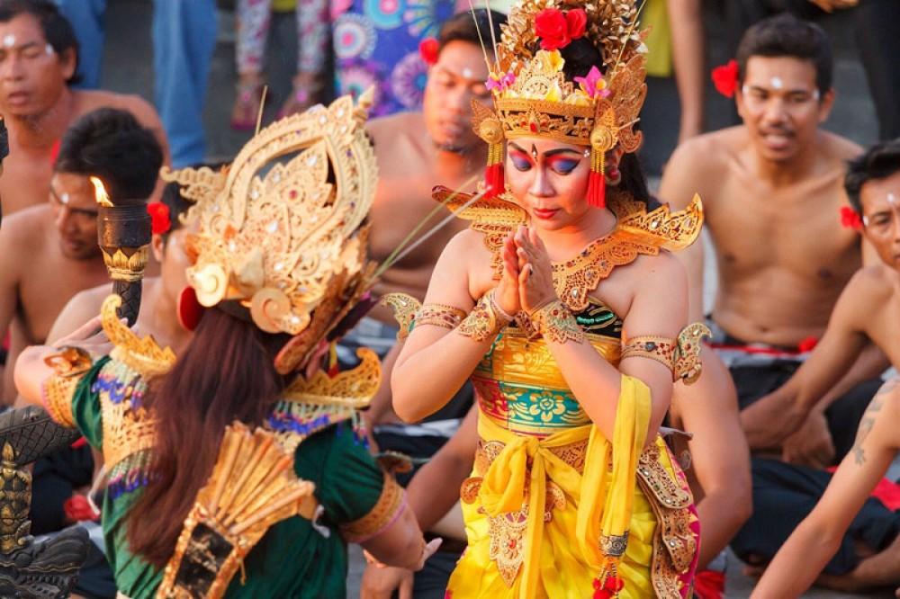 Figure of Sita in Kecak Fire Dance Bali