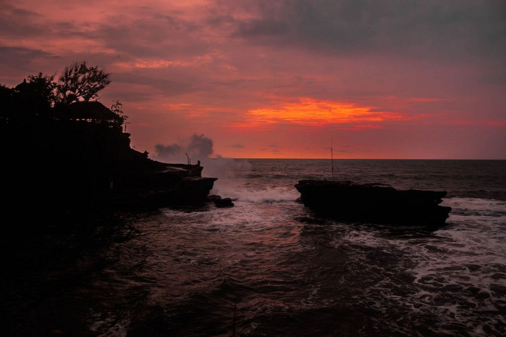 Perfect Sunset on Tanah Lot Temple