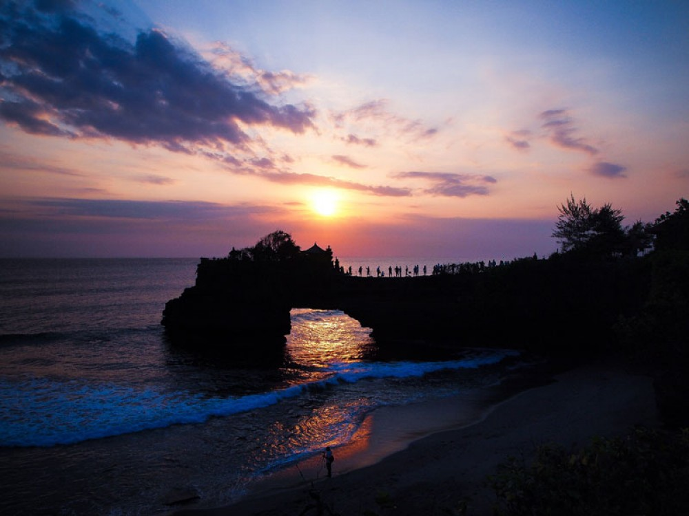 Sunset Time in Tanah Lot
