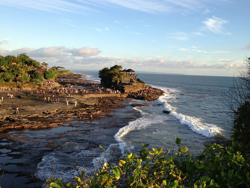 Tanah Lot Temple on The Rock Formation