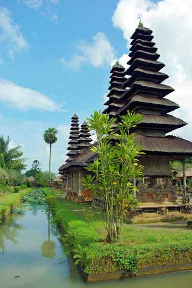 Temple Complex of Taman Ayun with Pond Surrounds
