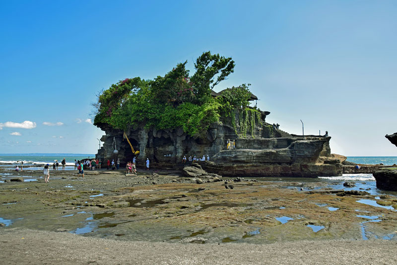 The Cave at Tanah Lot Temple