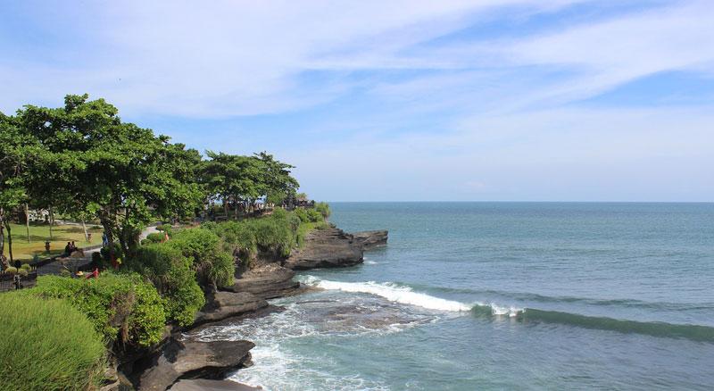 The Coastal of Tanah Lot