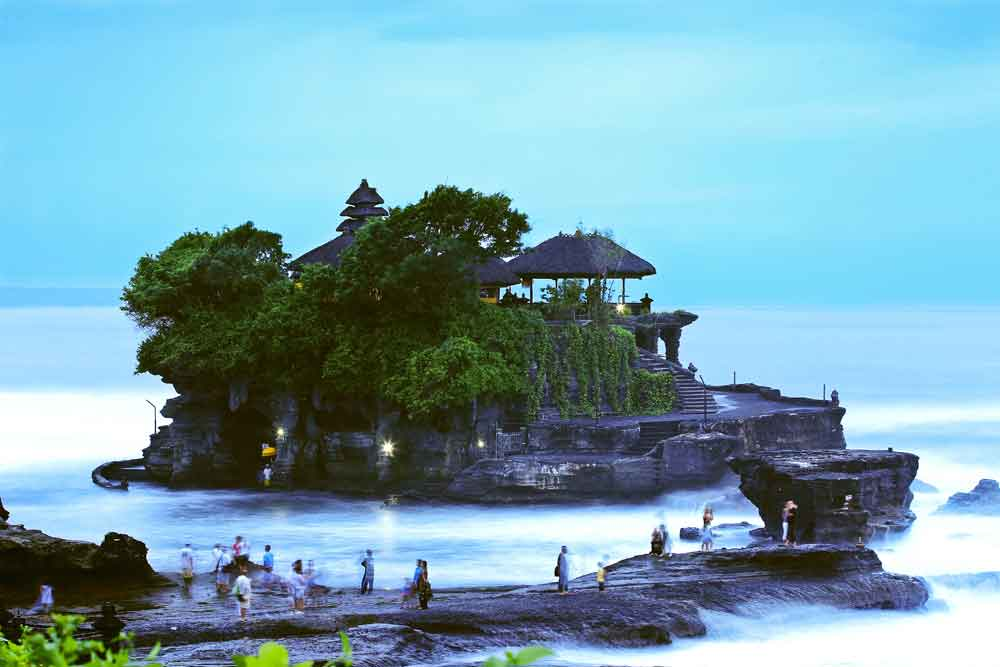 The Visitors in Tanah Lot Temple
