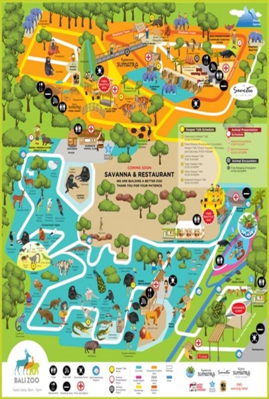 Map Bali Zoo Park