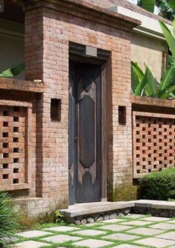 Pagar Rumah Bali Dengan Angkul Angkul