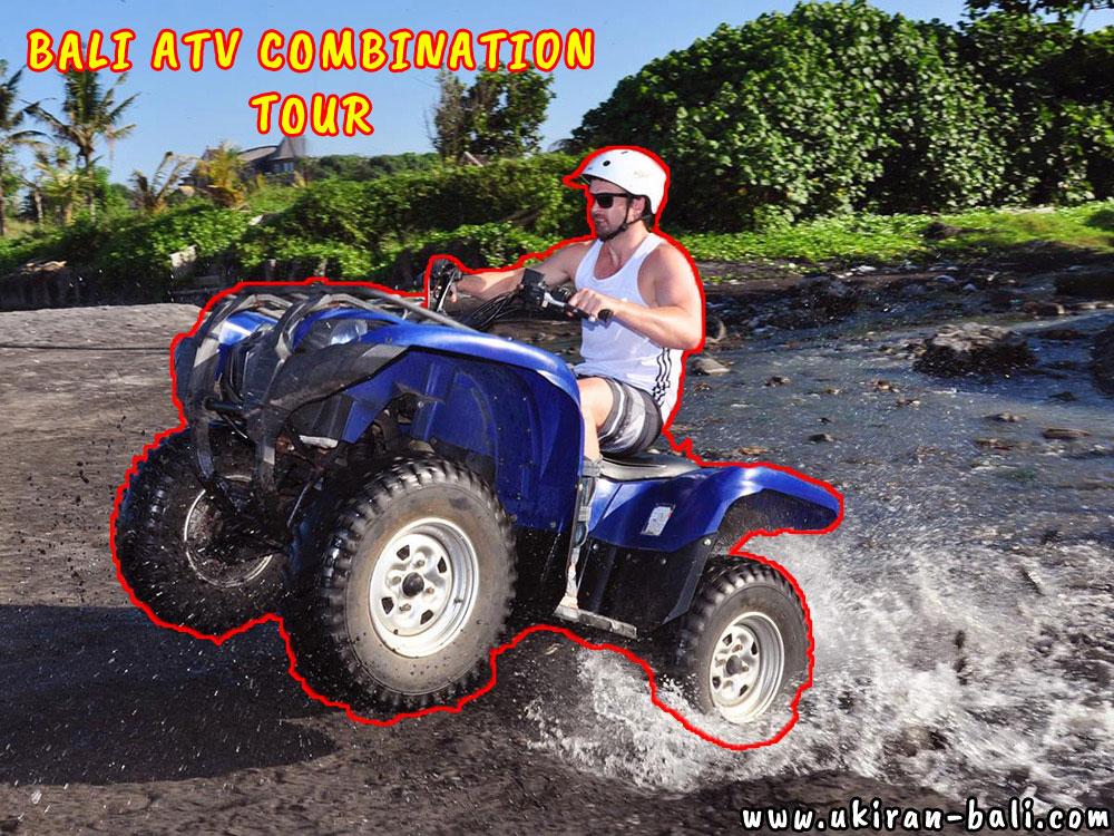 Bali Combination Tours Among of ATV Ride, Rafting, Tubing, and Swing
