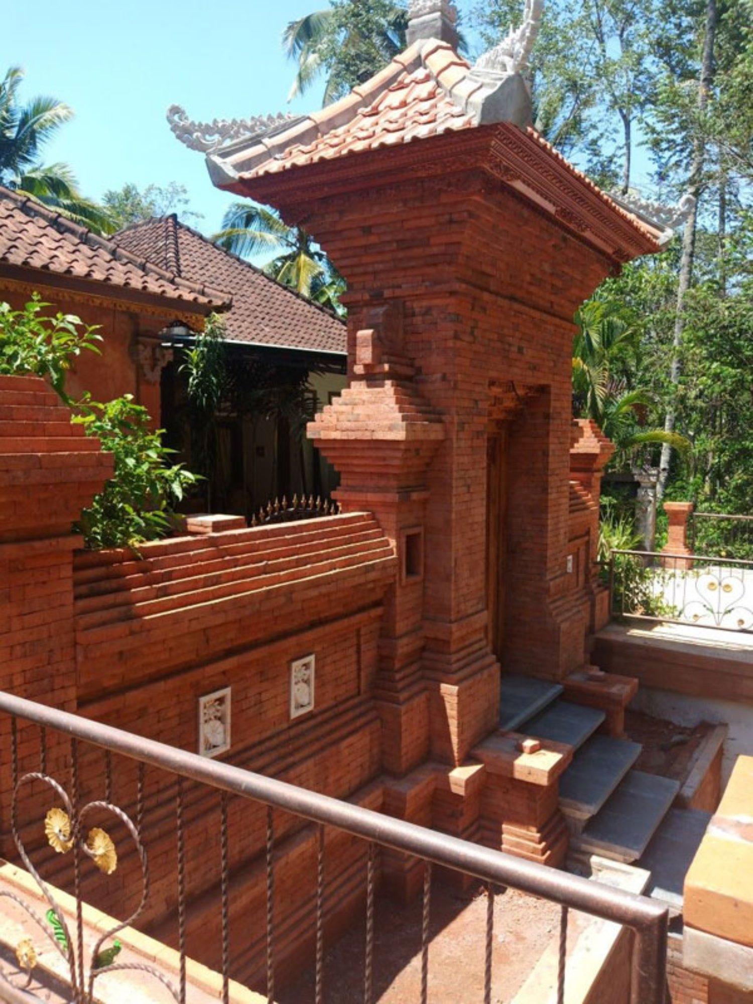 Ide Desain Pagar Rumah Batu Bata Arsitektur Bali