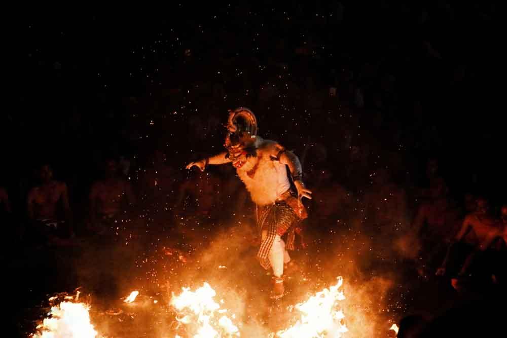 Hanuman Figure in Kecak Dance Uluwatu