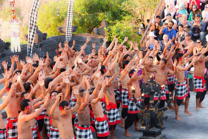 Kecak Dance Performance at Uluwatu Bali