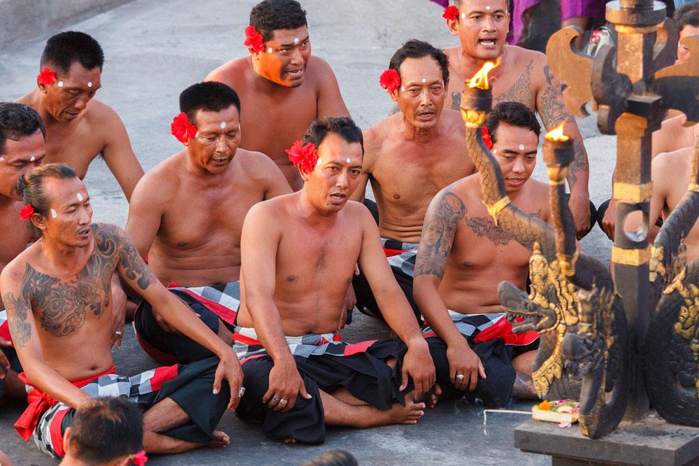 Kecak Dancers in Uluwatu Temple
