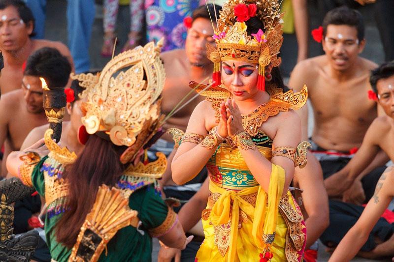 Princess Sita in Kecak Dance Uluwatu