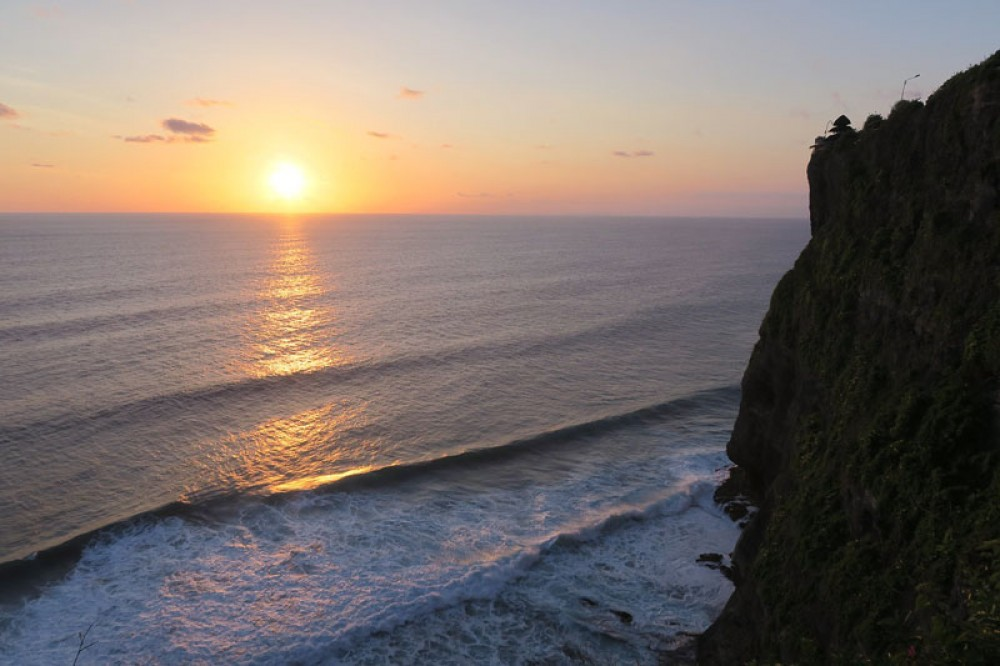 Sunset and Ocean View from Uluwatu Temple